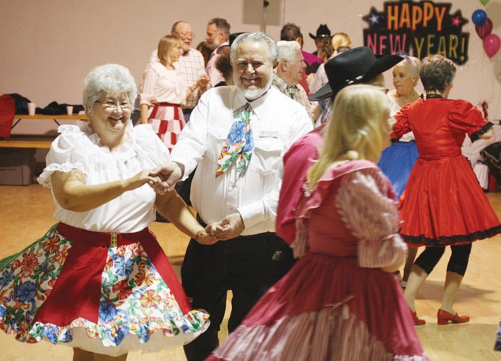 Kingman Kut-Ups square dance club, shown here from a past New Year's Eve dance, will be hosting their 38th annual Route 66 Jubilee Saturday at St. John's United Methodist Church.