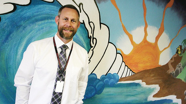 Brian Tankesley, in his fourth year at Camp Verde Unified and his 11th year as an educator, is administrator-in-charge Danny Howe's choice to lead South Verde. VVN/Bill Helm