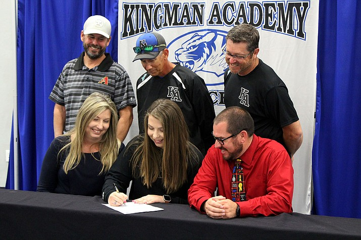Kingman Academy's Kassidy Campbell signs to play softball at the College of Southern Nevada.