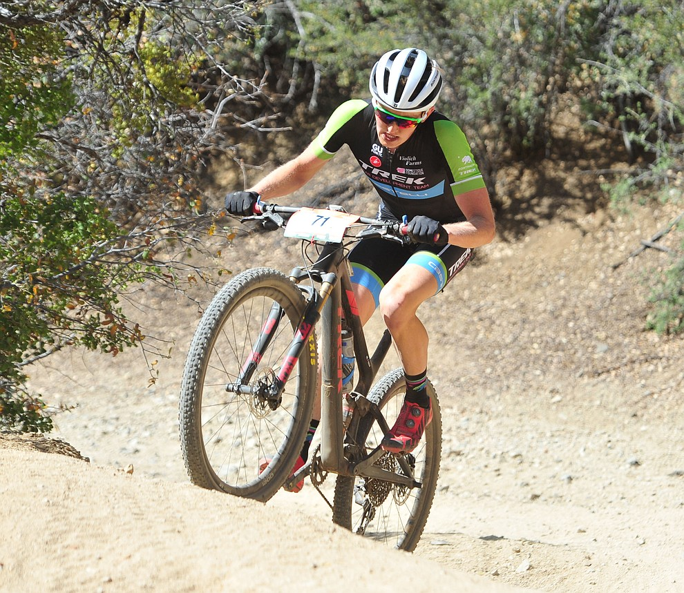 Paul Fabian on the 53 FS Road during the Whiskey Off Road  50 mile professional race in Prescott Sunday, April 29, 2018. (Les Stukenberg/Courier)