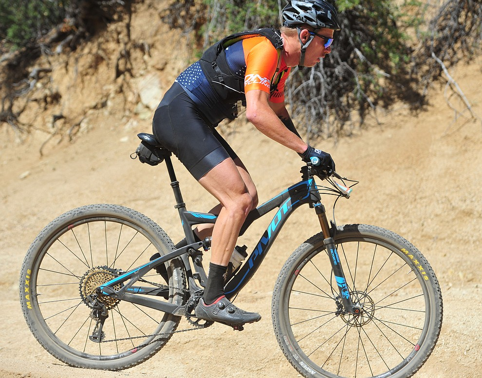Taylor Lideen on the 53 FS Road during the Whiskey Off Road  50 mile professional race in Prescott Sunday, April 29, 2018. (Les Stukenberg/Courier)