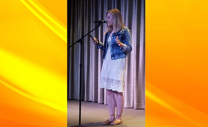 Kim Jarchow won the fourth Sedona Poetry Slam of the 2017-18 season on April 7 at the Sedona Arts Center. The next Sedona Poetry Slam takes place Saturday, May 5, at 7:30 p.m. at the Mary D. Fisher Theatre. Photo courtesy Christopher Fox Graham