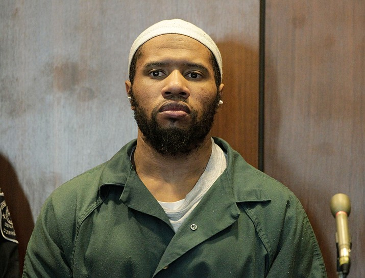 "In this Jan. 20, 2016, file photo, Ali Muhammad Brown, of Seattle, appears before New Jersey Superior Court Judge Ronald Wigler in Newark, N.J. Brown, who says he was on a ""jihad"" to avenge U.S. policy in the Middle East, is facing sentencing for killing a New Jersey college student. He is scheduled to be sentenced on Tuesday, May 1, 2018, in Newark. (Patti Sapone/NJ Advance Media via AP, Pool, File)"