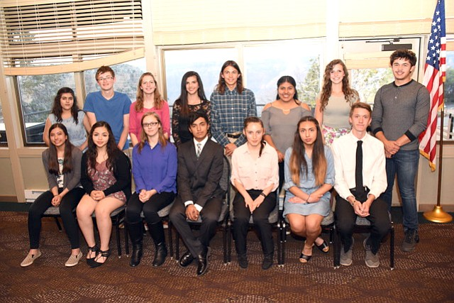 Grand Canyon School student leaders were inducted into the National Honor Society April 11. (Photo/Cyndi Moreno)