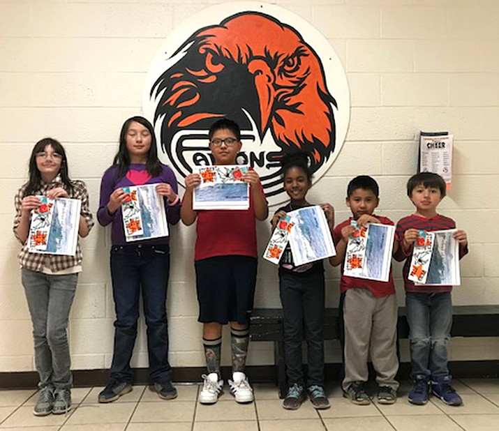 Williams Elementary-Middle School students were awarded Student of the Month certificates for April. (Submitted photo)