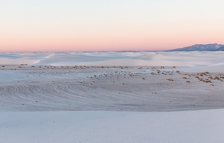Pink sky over White Sands National Monument, New Mexico. (Photo/NPS)