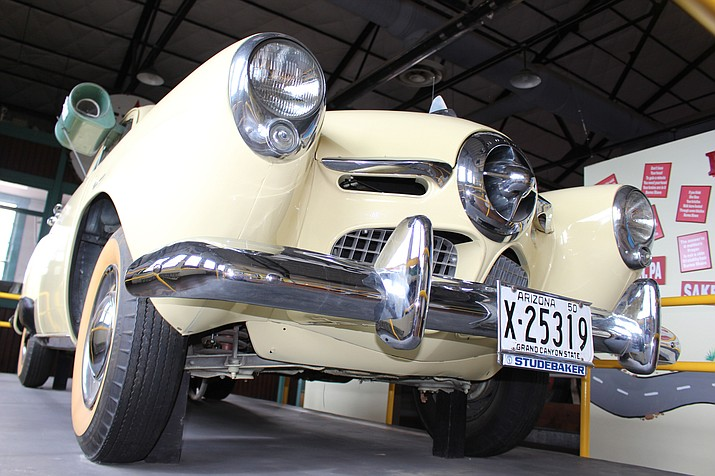 A 1950 Studebaker Champion, originally priced at $1,487, is on display at the Arizona Route 66 Museum.