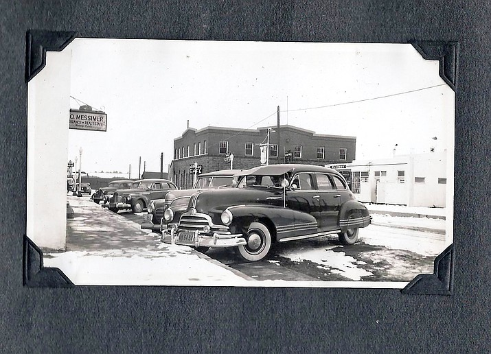 Vehicles line Route 66 through Williams in the mid 1950s.  (Williams Historic Photo Archives/Al Messimer Family)