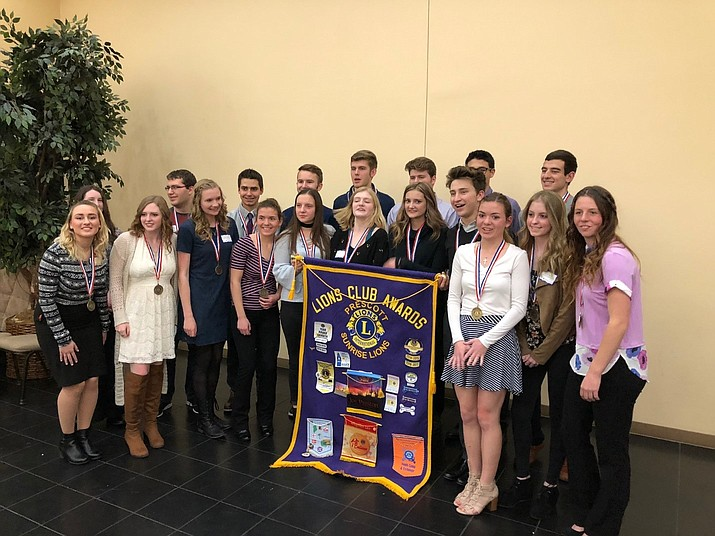 Lions Club academic achievement dinner for tri-city students. (Courtesy)