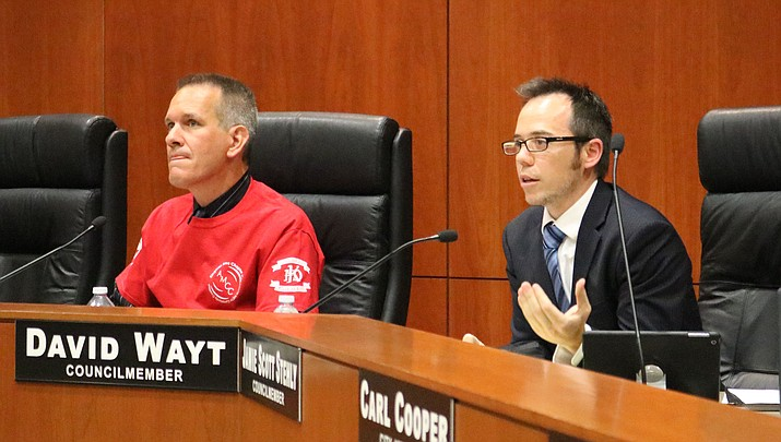 Councilman David Wayt asked KPD Chief Bob DeVries to bring back additional information on red light cameras to Council's May 15 meeting.