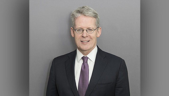 This image provided by Williams & Connolly LLP shows attorney Emmet Flood in Washington on Dec. 8, 2015. President Donald Trump has hired Flood, a veteran attorney who represented Bill Clinton during his impeachment process. The White House announced the hiring not long after announcing the retirement of lawyer Ty Cobb, who has been the administration's point person dealing with special counsel Robert Mueller's investigation.(Marissa Rauch/Williams & Connolly LLP via AP)