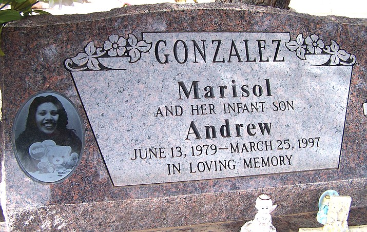 Between March 24-25, 1997, the Cottonwood Police Department began investigating the death of Marisol Gonzalez and her son, Andrew. She was found with a gunshot wound to the face in an alley just a short distance from her home. Her body was found about 7 a.m. in the alley. A memorial with a cross and flowers continues to stand today in the alley off Birch Street, between 13th and 14th Streets. VVN photo