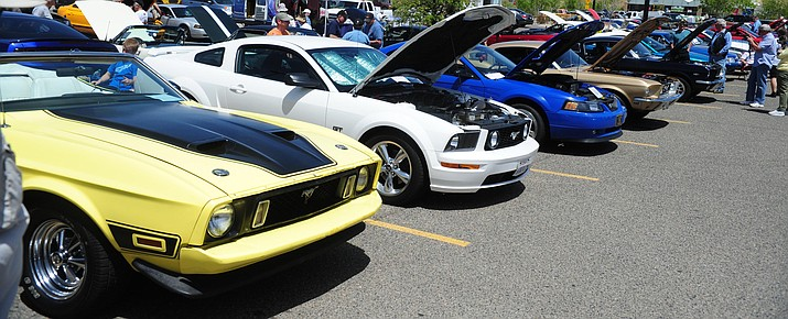 Ford Mustangs of all makes and years at the Walmart parking on Saturday, May 5. (Les Stukenberg/Kudos, file)