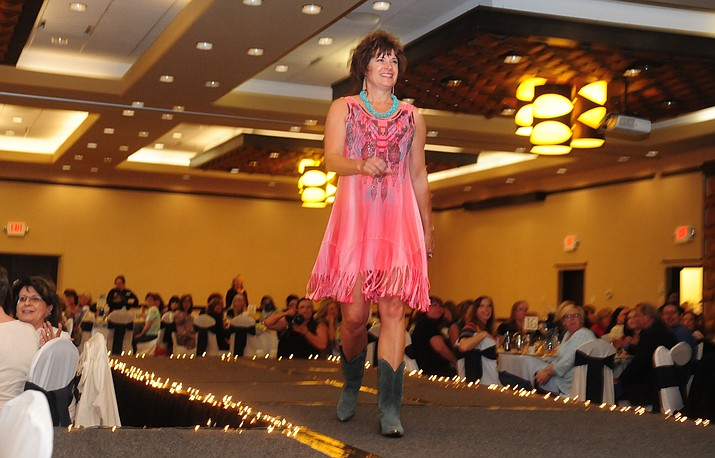 Heidi Marshall models an outfit from Allie Ollie during a previous Women's Council of Realtors Prescott annual fashion show. (Les Stukenberg/Kudos, file)