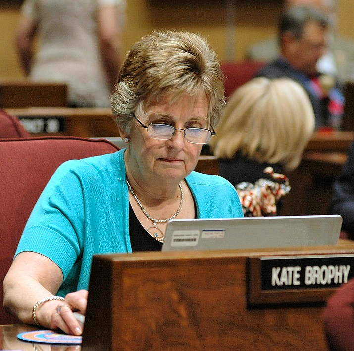 Sen. Kate Brophy McGee is one of two lawmakers who split from the Republican majority, which wanted to rescind the voucher expansion. It now, barring a court challenge, will go to the voters in November. (Capitol Media Services 2017 file photo by Howard Fischer)
