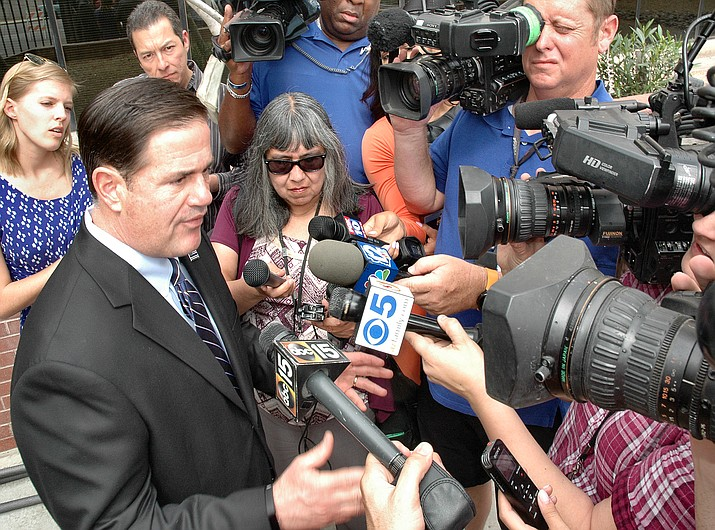 Gov. Doug Ducey answers questions Monday about the pay raise for teachers in the budget and whether it really is a 20 percent increase.