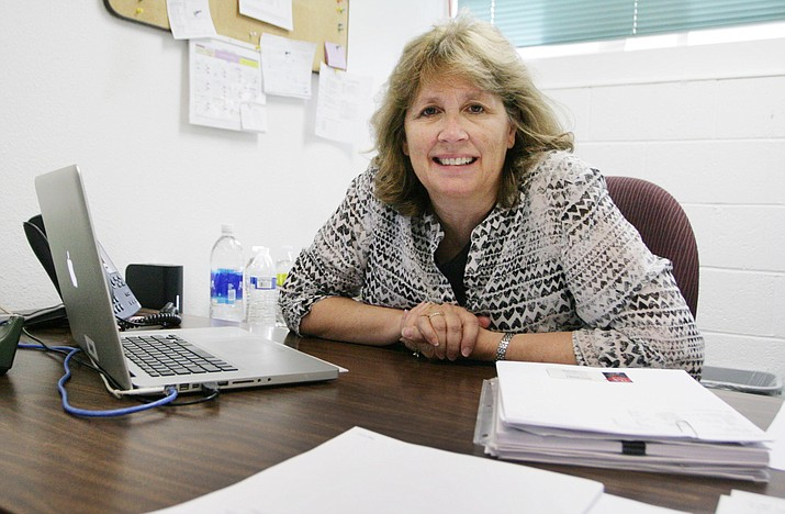 For the past 14 years, home for Pam Miller has been the Verde Independent office in Cottonwood. After 35 years in the newspaper business, the last 14 as publisher of the Verde Independent and the Camp Verde Bugle, Miller will retire on May 18. (Photo by Bill Helm)