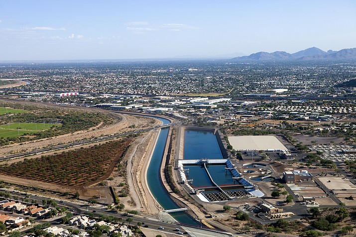 A treatment plant treats water from a Central Arizona Project canal near a Phoenix community. (Stock photo)