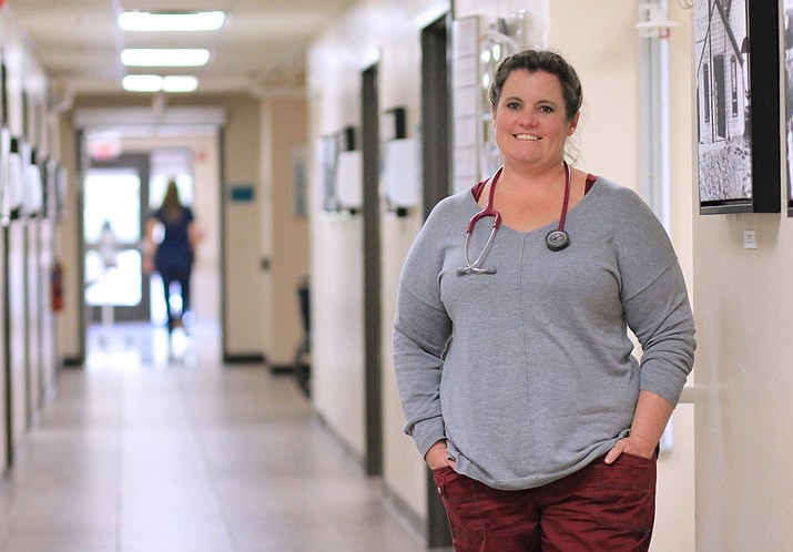 Crystal Gonzalez is an RN at North Country HealthCare in Williams. Gonzalez grew up in Williams and decided to return here after completing her nursing credentials. (Wendy Howell/WGCN)