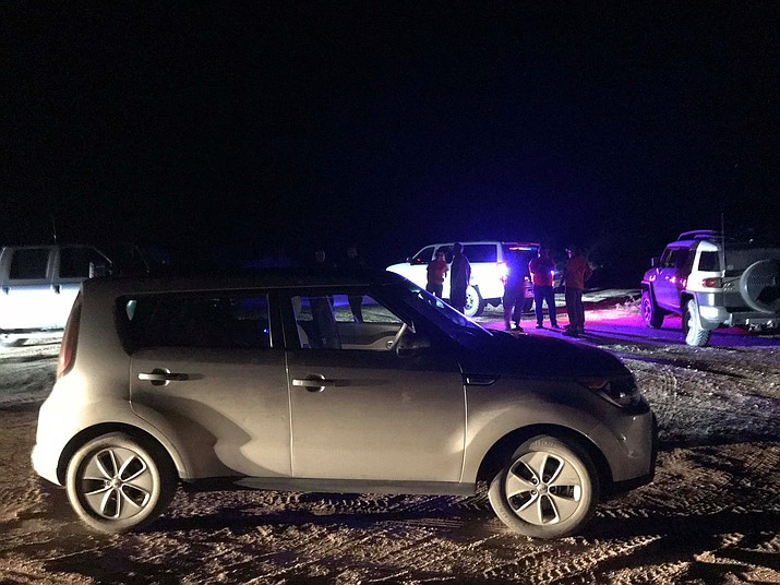 MCSO Search and Rescue were called to get the driver of this Kia Soul back on the road Monday night.