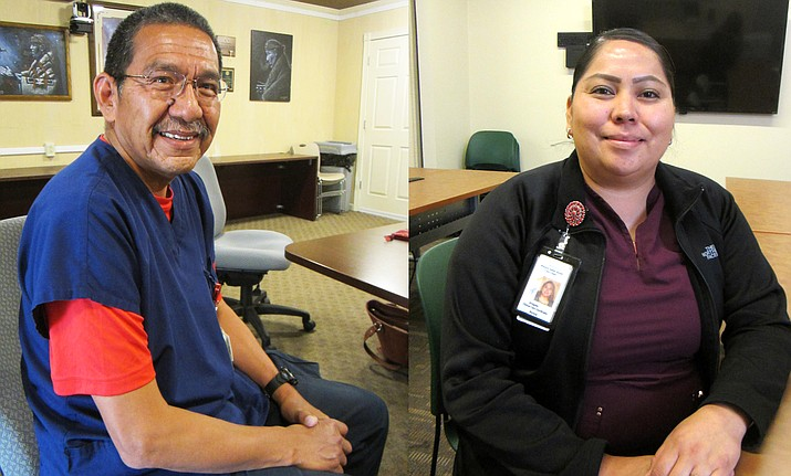 The Navajo-Hopi Observer featured two nurses, Lincoln Johnson, from Tuba City Regional Health Care Corporation, and Bridgette Cody, from Winslow Indian Healthcare Center, this week in honor of Nurses Week. (Katherine Locke/NHO).
