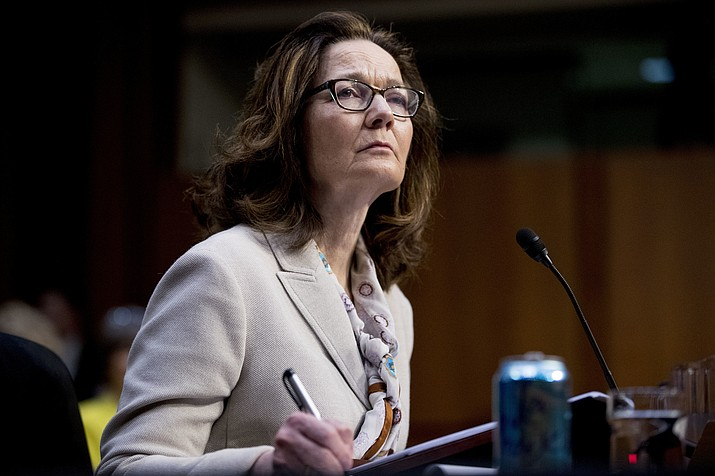 Gina Haspel, President Donald Trump's pick to lead the Central Intelligence Agency, pauses while testifying at her confirmation hearing before the Senate Intelligence Committee, on Capitol Hill, Wednesday, May 9, 2018, in Washington. (AP Photo/Andrew Harnik)