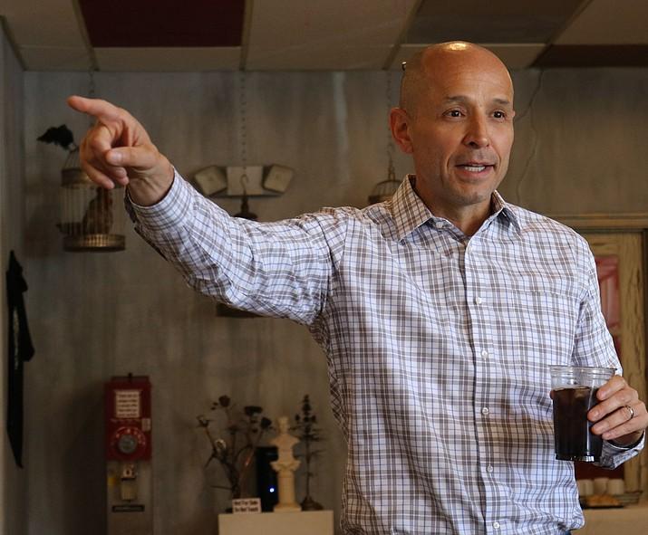 David Garcia, Democratic gubernatorial candidate, kicked off his campaign bus tour in Kingman Wednesday morning.