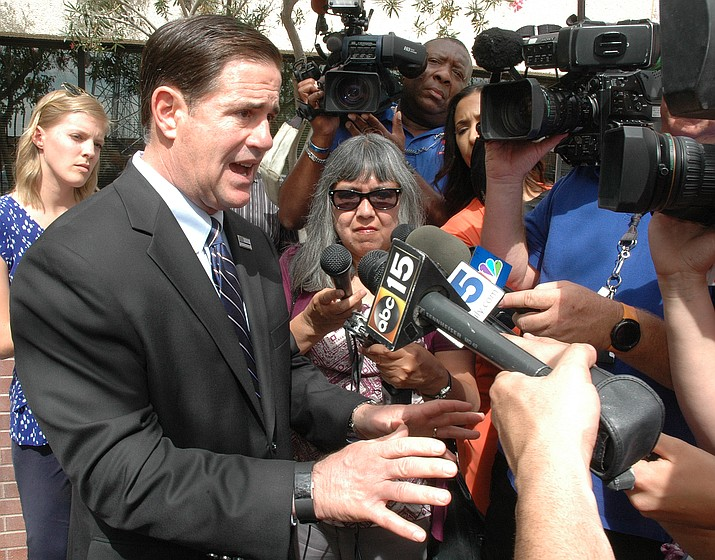 Gov. Doug Ducey is disappointed that the Legislature killed his school safety plan.