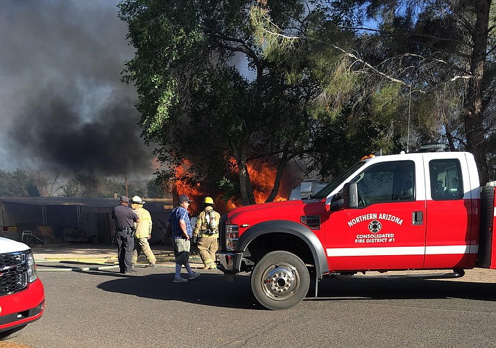 A fire has broke out on the 2900 block of East Snavely Avenue in North Kingman.