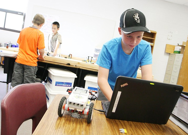Robotics has been one of the most popular of Camp Verde Unified's Friday Camps programs, says Fifth Day Program Coordinator Peggy Dickey. (Photo by Bill Helm)