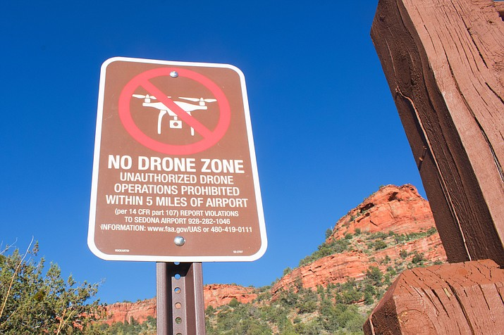 The regulation of drones by towns, cities or counties is prohibited by ARS 13-3729. Drone operators looking to fly over Jerome require authorization from the Cottonwood Airport. (VVN/Halie Chavez)