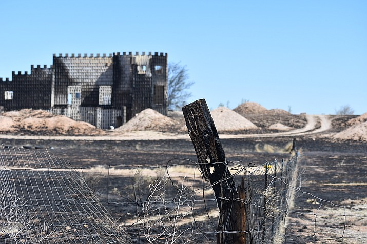 On the morning of May 12, 2018 residents woke up to survey damage to homes and property caused by the Viewpoint Fire in the Poquito Valley area of Prescott Valley, Arizona. (Richard Haddad/WNI)
