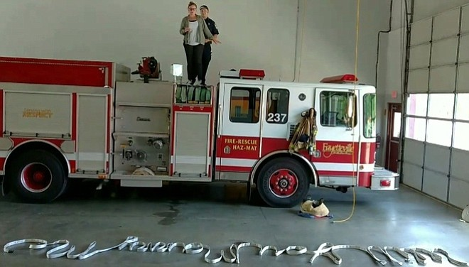 Firefighter Gets Creative With Marriage Proposal The Daily Courier