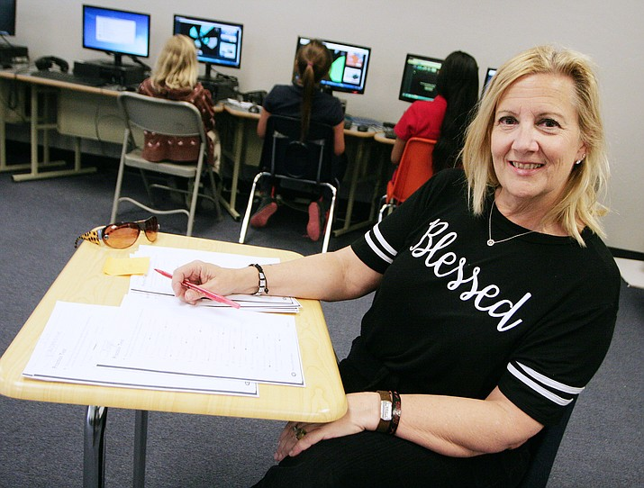 Once in the fashion industry in New York City, Deborah Allen has been in education for 15 years, the past 4 at American Heritage Academy in Camp Verde. (Photo by Bill Helm)
