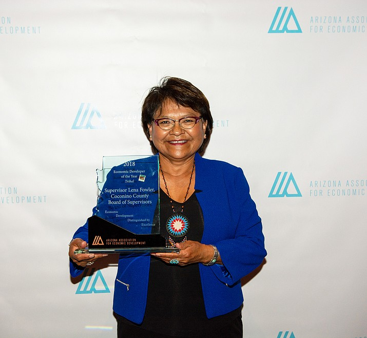 Coconino County Supervisor Lena Fowler was presented with a distinguished EDDE (Economic Development Distinguished by Excellence) award for her contributions to promote economic growth within Arizona. (Submitted photo)