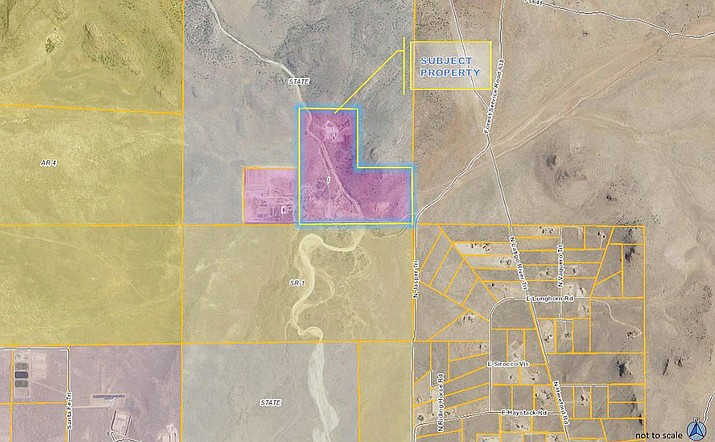 The location of the hot mix asphalt plant for which the Chino Valley Town Council approved a conditional use permit at its Tuesday, May 8, meeting. (Town of Chino Valley/Courtesy)