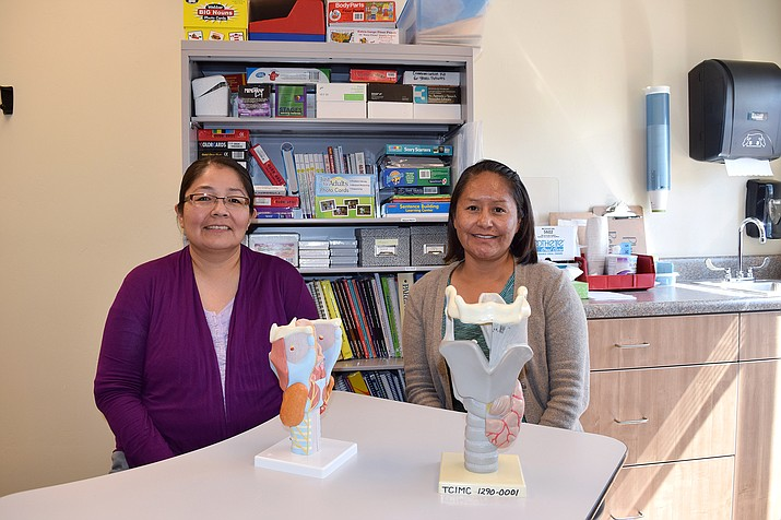 Valerie Yazzie, MA-CCC and Cheryl Saganitso, MA, CCC work as speech language pathologists  at Tuba City location and are celebrating Hearing and Speech Month during May. (Tuba City Regional Health Care Corporation)