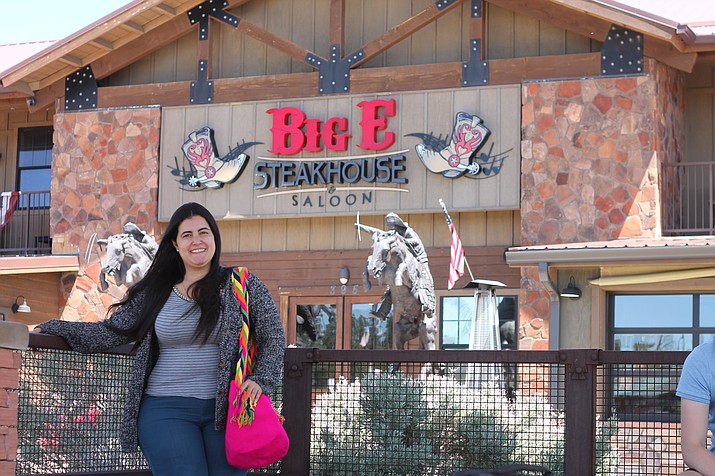 Débora Barreto will travel to a different Arizona city each week during her two month Rotary exchange program. Barreto described her experiences as a journalist in Brazil at the May 9 Grand Canyon Rotary meeting at Big E's Steakhouse. (Erin Ford/WGCN)