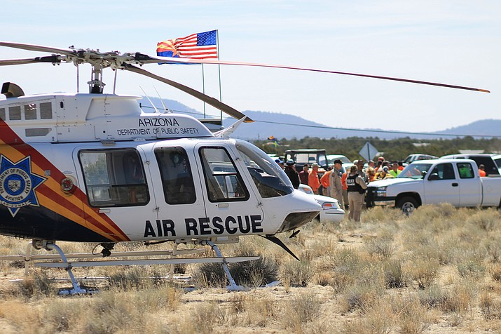 A DPS helicopter was damaged and forced to land following a bird strike April 29. The crew had been in Williams assisting on a search and was returning to base in Kingman at 1 a.m. when a flock of birds struck the helicopter.