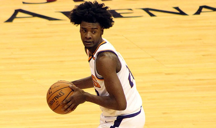 Josh Jackson, above, traveled to Chicago Tuesday for the NBA draft lottery, where the Phoenix Suns won the first overall pick in the 2018 NBA Draft.