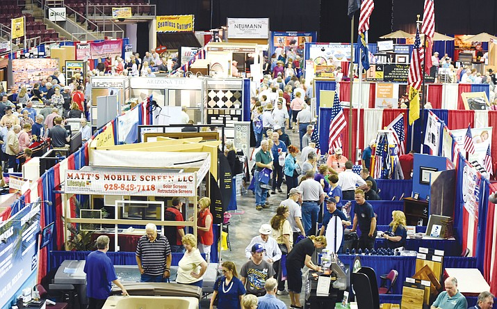 Its a busy day at the Yavapai County Contractors Association Home and Garden Show at the Prescott Valley Event Center. The show runs through Sunday. (Les Stukenberg/Review, File)