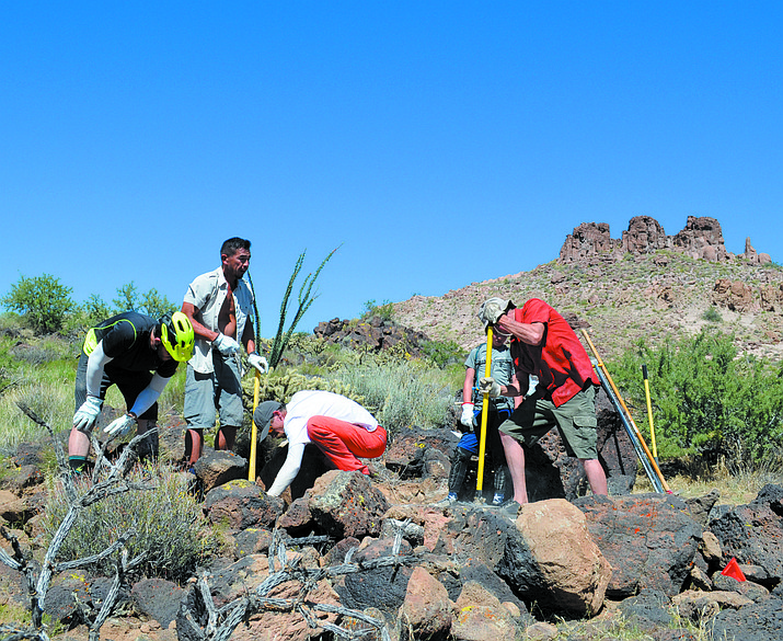 Colorado River Area Trail Alliance members work on a new trail at the Cerbat Foothills Recreation Area in August 2017. More trails could come to Kingman in the future.