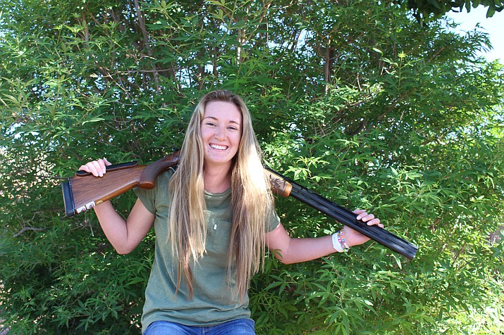 Sarah Schrade, a 17-year-old senior at Kingman Academy High School, is one of the best young trap shooters in Arizona, boy or girl.