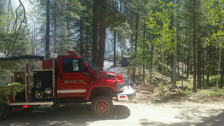 Fire south of Walker causes limited evacuations