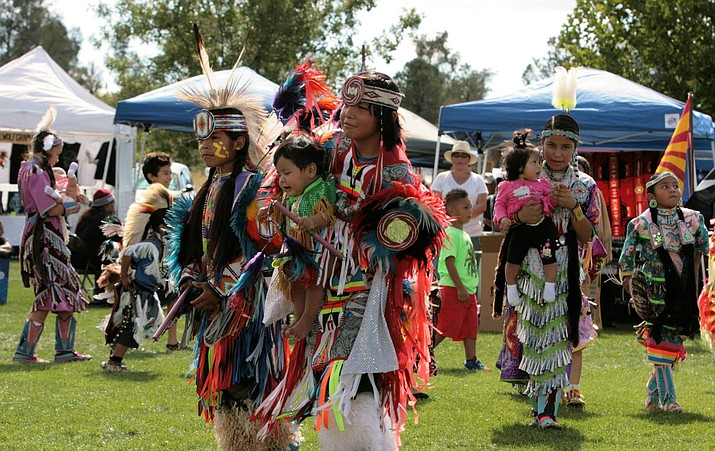 The annual Prescott powwow, pictured here in September of 2017 at Watson Lake Park, is among the many local events that have received grant funding from the City of Prescott. (Manuel Lucero/Courtesy, file)