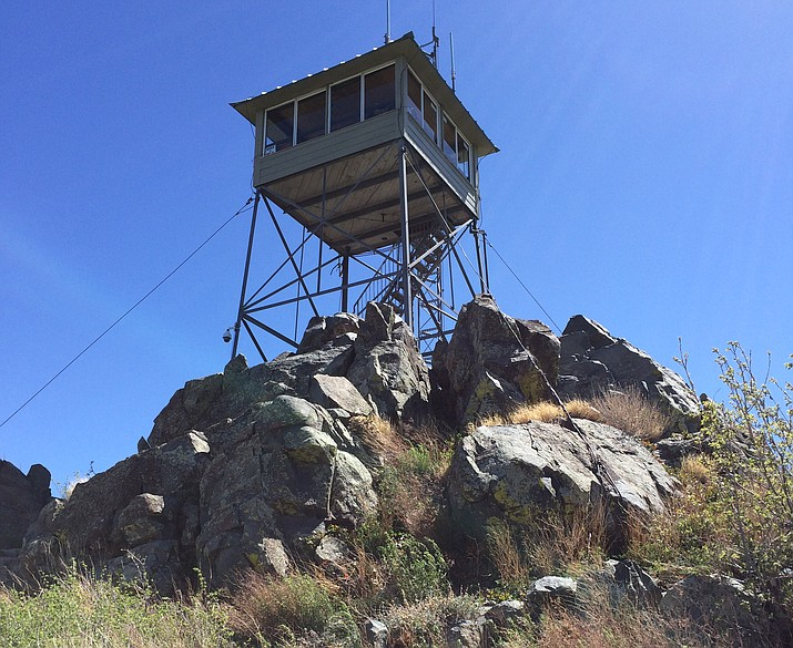 Spruce Mountain lookout tower, located in the Prescott National Forest. (Courtesy)