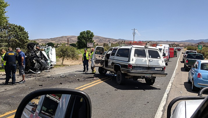 2 sent to hospital after head-on collision in Prescott