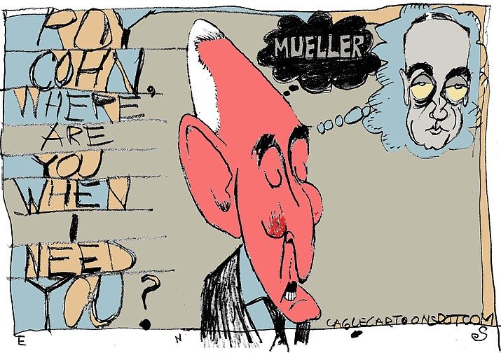 This editorial cartoon was published in The Daily Courier Monday, May 21, 2018.