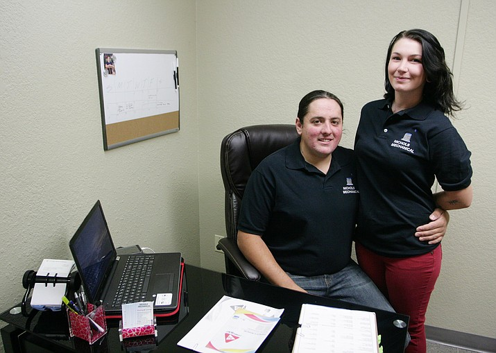 David and Desirea Nichols are the owners of Nichols Mechanical, an HVAC business in Cottonwood. (Photo by Bill Helm)