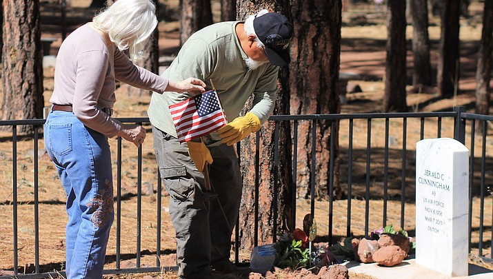 A lasting legacy: Williams VFW Auxiliary places markers, flags at cemetery